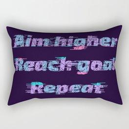 Aim Higher, Reach Goal, Repeat Rectangular Pillow