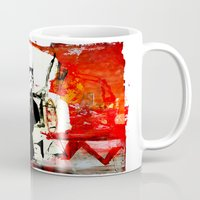 boxing Mugs featuring Boxing Darth by Genco Demirer