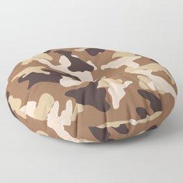 Desert camo sand camouflage army pattern Floor Pillow