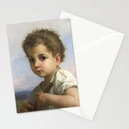 """William-Adolphe Bouguereau """"Flute Player"""" Stationery Cards"""