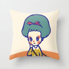 Thinking girl  Throw Pillow