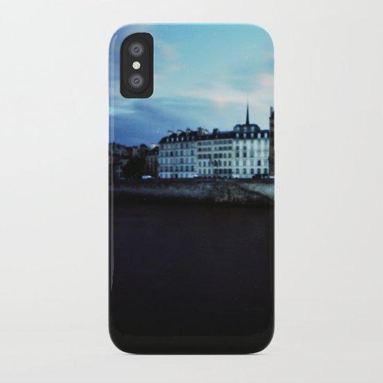 Paris at Dusk: Ile de la Cite iPhone Case