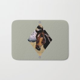 Galloping Horse Close-Up Bath Mat