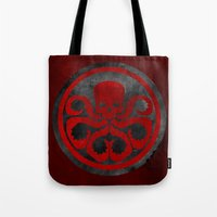 hydra Tote Bags featuring Captain Hydra by Some_Designs