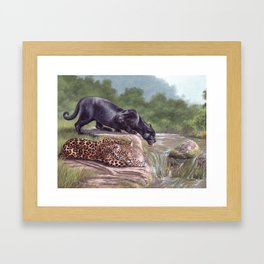 Jaguars Painting Framed Art Print