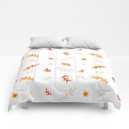 Watercolor autumn Comforters