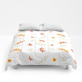 Watercolor autumn Comforters