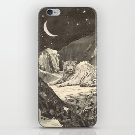 Giant White Tiger in Mountains iPhone Skin