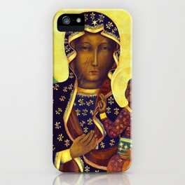 Virgin Mary Our Lady of Czestochowa Poland Black Madonna and Child Religion Christmas Gift iPhone Case