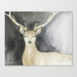 Charcoal Stag Canvas Print