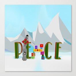 Penquin Chicks: Adding Last Piece to Peace Canvas Print