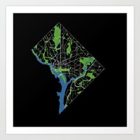 dc Art Prints featuring DC by rachitect
