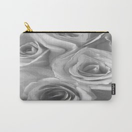 Roses in Black and White Carry-All Pouch