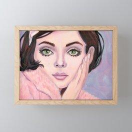 Peachy Framed Mini Art Print