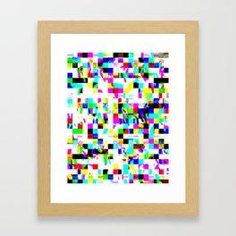 Data Mosh  Framed Art Print