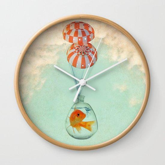 parachute goldfish Wall Clock