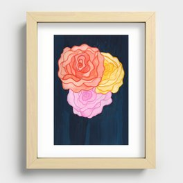 Dame de Coeur Recessed Framed Print