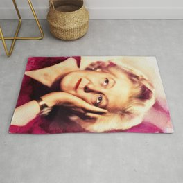 Margaret Rutherford, Vintage Actress Rug