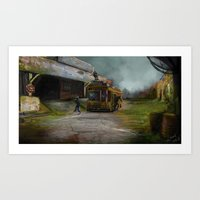 Apocalyptic, End of the world, Concept art Art Print