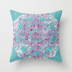 Reinventing A Taste of Lilac Wine Throw Pillow