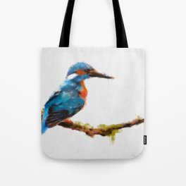 Kingfisher - watercolor (signed) Tote Bag