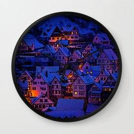clasic architecture city Wall Clock