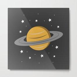Planet Saturn Metal Print