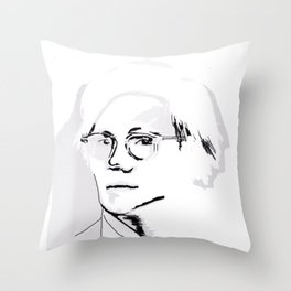 Andy W - by Aubrey Binzer / Observe Vintage Throw Pillow