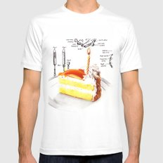 Birthday Cake Mens Fitted Tee SMALL White