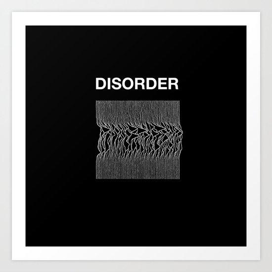 Disorder. A Joy Division/Peter Saville tribute. Art Print