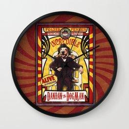 Dandan the Dog Man- Vintage Sideshow Poster Wall Clock