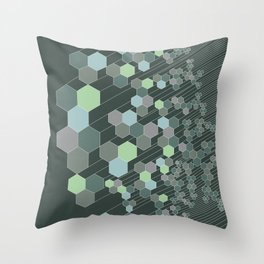 Hexagonal / cool Throw Pillow