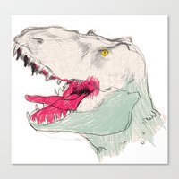 jurassic park Canvas Prints featuring JURASSIC PARK by Gianluca Floris