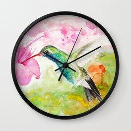 Humming-bird Wall Clock