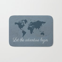 Let the adventure begin Bath Mat
