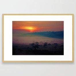 Sun Rise over Kigali, Rwanda Framed Art Print