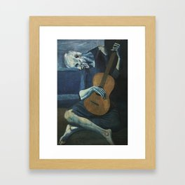 Pablo Picasso - The Old Guitarist Framed Art Print