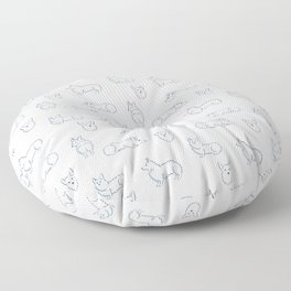 Corgi Pattern Floor Pillow