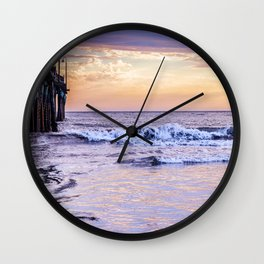 Ever Changing Cayucos Pier and Beach California Wall Clock