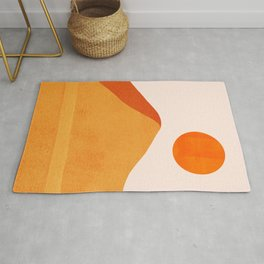 Abstraction_Mountains_SUN_Minimalism_01 Rug