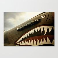 jaws Canvas Prints featuring JAWS by MOREGUINNESS