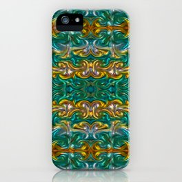 Molten gold with impurities iPhone Case