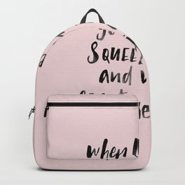 When life gives you lemons, squeeze them and make creative juices Backpack