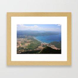 Akyaka and The Bay Of Gokova Photograph Framed Art Print
