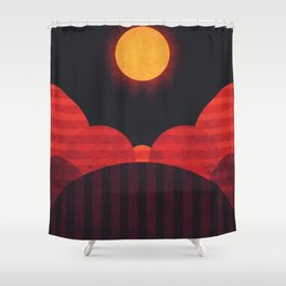 Mercury - Wrinkle Ridges Shower Curtain