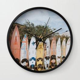 lets surf vii / maui, hawaii Wall Clock