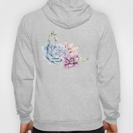 Pristine Succulents Blue and Pink Hoody