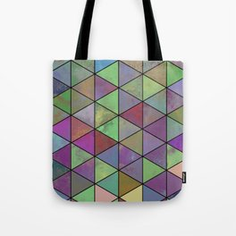 Pastel Triangulation - Abstract, textured, geometric painting Tote Bag