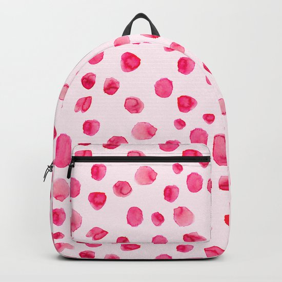 Think pink || Watercolor brushstrokes pattern Backpack