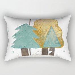 white fox Rectangular Pillow